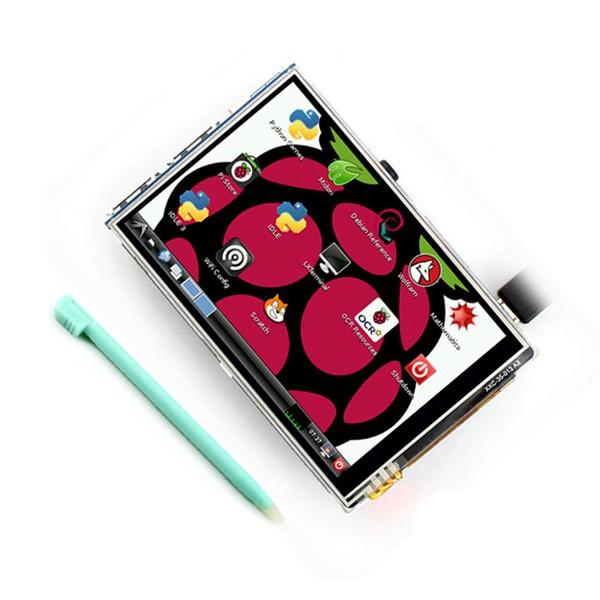 Màn Hình Lcd 3,5 Inch 320 X 480 Màn Hình Cảm Ứng Cho Raspberry Pi 2 Raspberry Pi 3 Model B Có Vỏ
