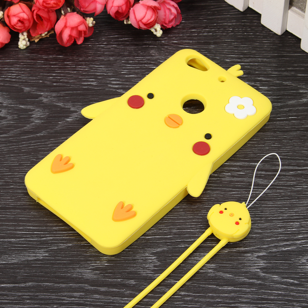 Chick Pattern Anti-fall Anti-slip Silicone Back Case With lanyard For Letv 1S Le 1S