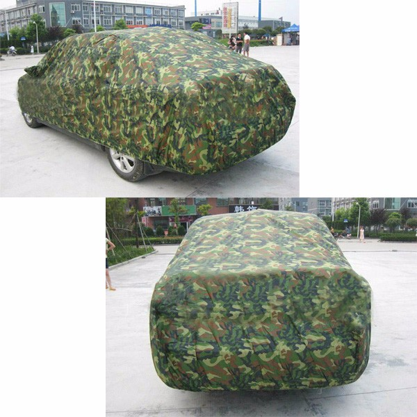 Camouflage Oxford Cloth Three Box Car Cover Dustproof Scratch Resistant Sun Block XL XXL Size