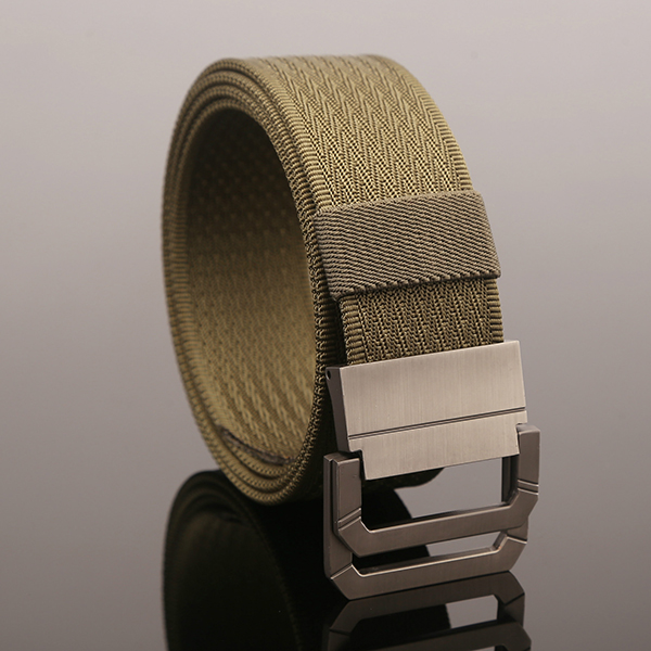 130CM Mens Double Ring Buckle Belt Nylon Military Tactical Durable Sport Jeans Waistband