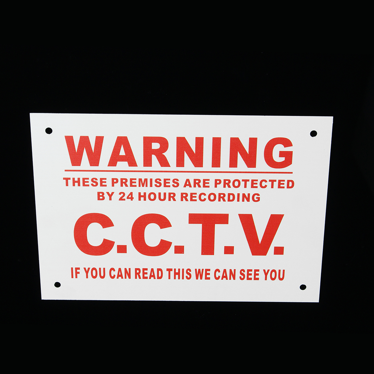 Camera Warning Sign A5 24 Hour CCTV We Can See You Metal Sticker Security Safety Sign