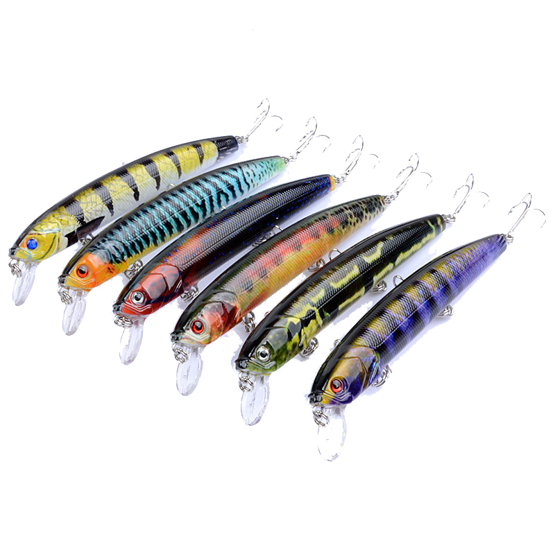 ZANLURE 6PCS 12.5cm 15.9g Fishing Lures 3D Eyes Plastic