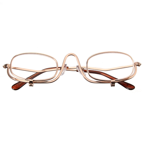 2.5 X Magnifying Makeup Glasses Eye Make Up Spectacles Flip Down Lens Folding Cosmetic Readers