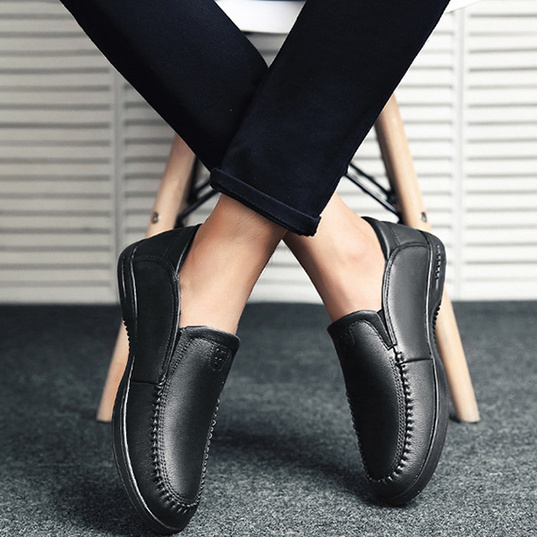 Men Soft Hand Stitching Leather Oxfords