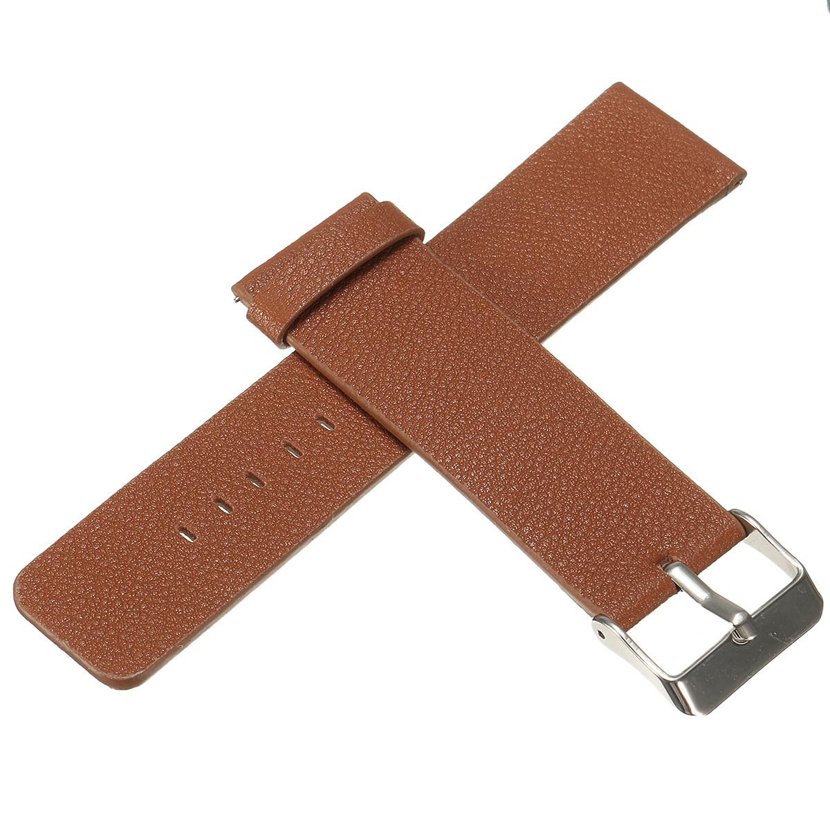 18MM Leather Watch Band Wrist Strap Bracelet For Fitbit Blaze Smart Watch