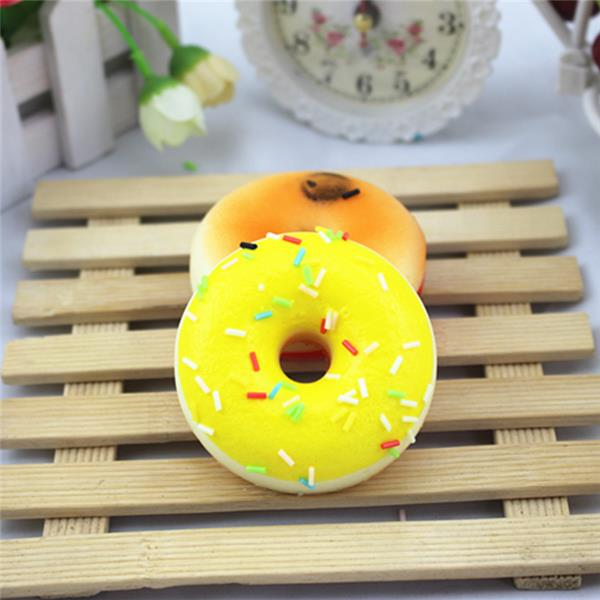 2.5*7CM Random Squishy Simulation French Donuts Slow Rising Squishy Fun Toys Decoration