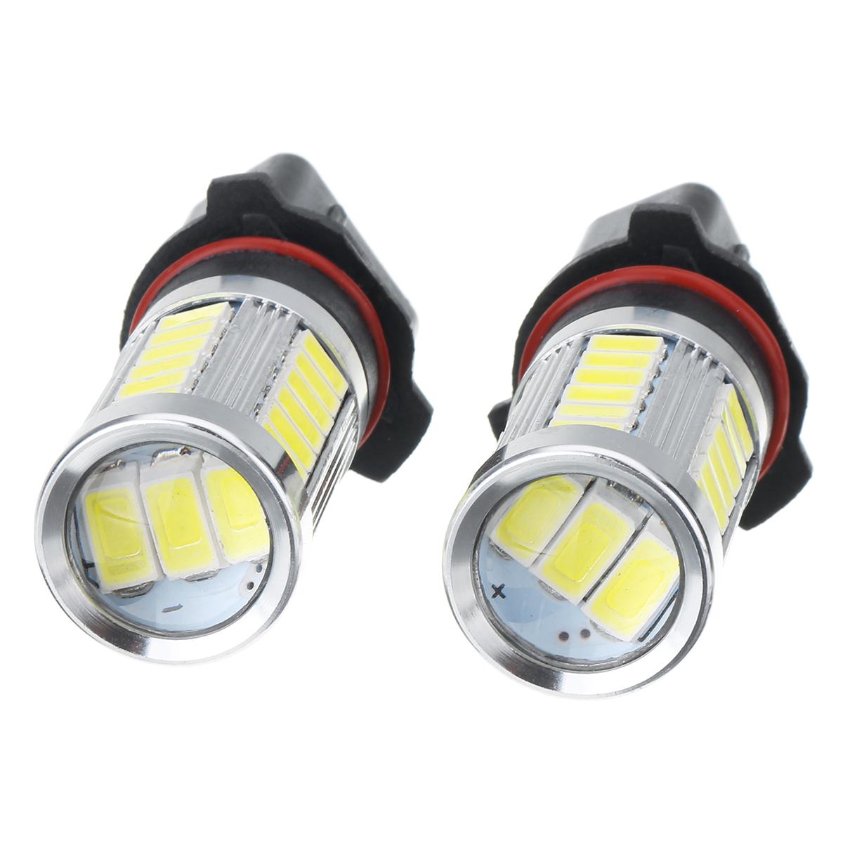 Pair P13W White 6000K 500LM 33LEDs Car Fog Lights Daytime Running Lights Bulbs Error Free