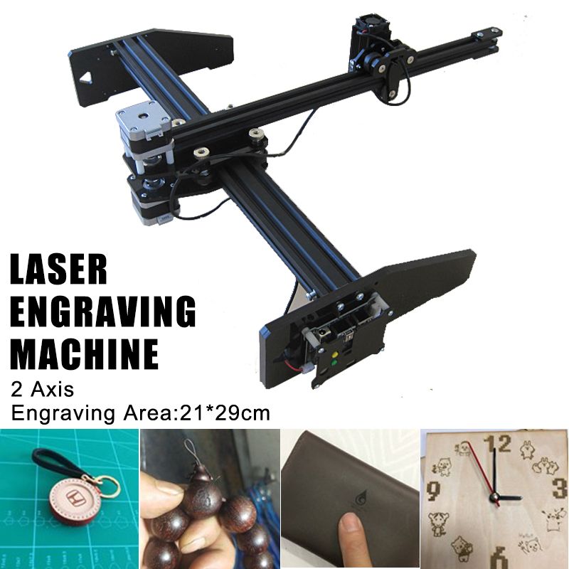 2500mw XY 2 Axis Draft CNC Drawing Laser Engraving Machine Pen Plotter Robot Auto Write 21*29cm
