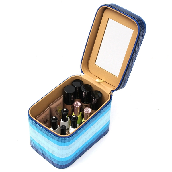 Waterproof Color Changing Cosmetic Makeup Tool Case Storage Box Holder Organizer