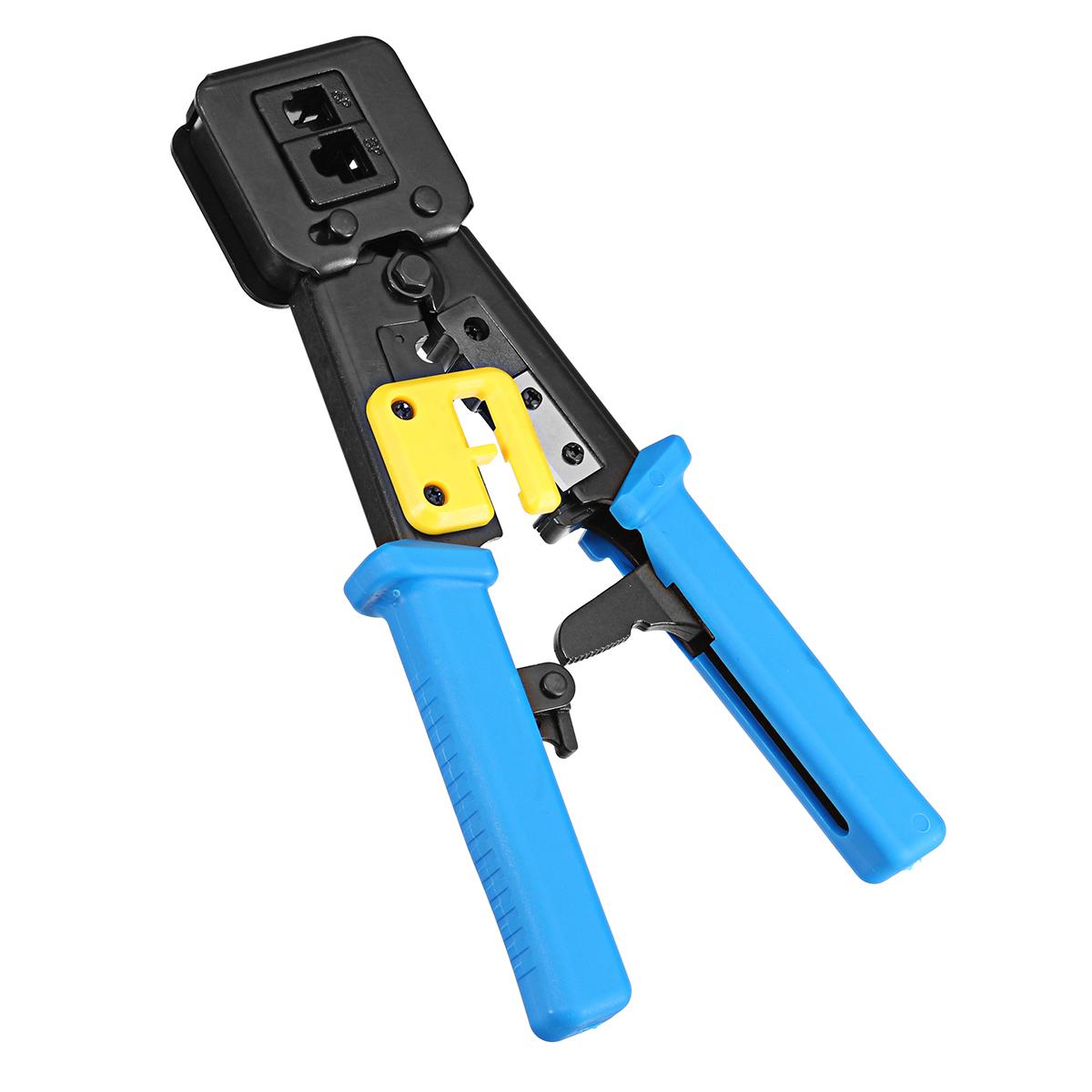 RJ11 EZ RJ45 Crimper Plier Crimping Cable Stripper Pressing Line Clamp Plier
