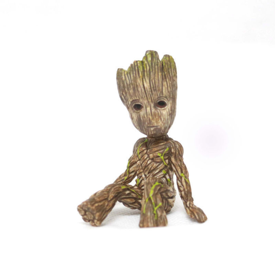 Anime Groot Figure Guardians of The Galaxy 2 Tree Man Baby Sitting Ver Collectible Model Toys