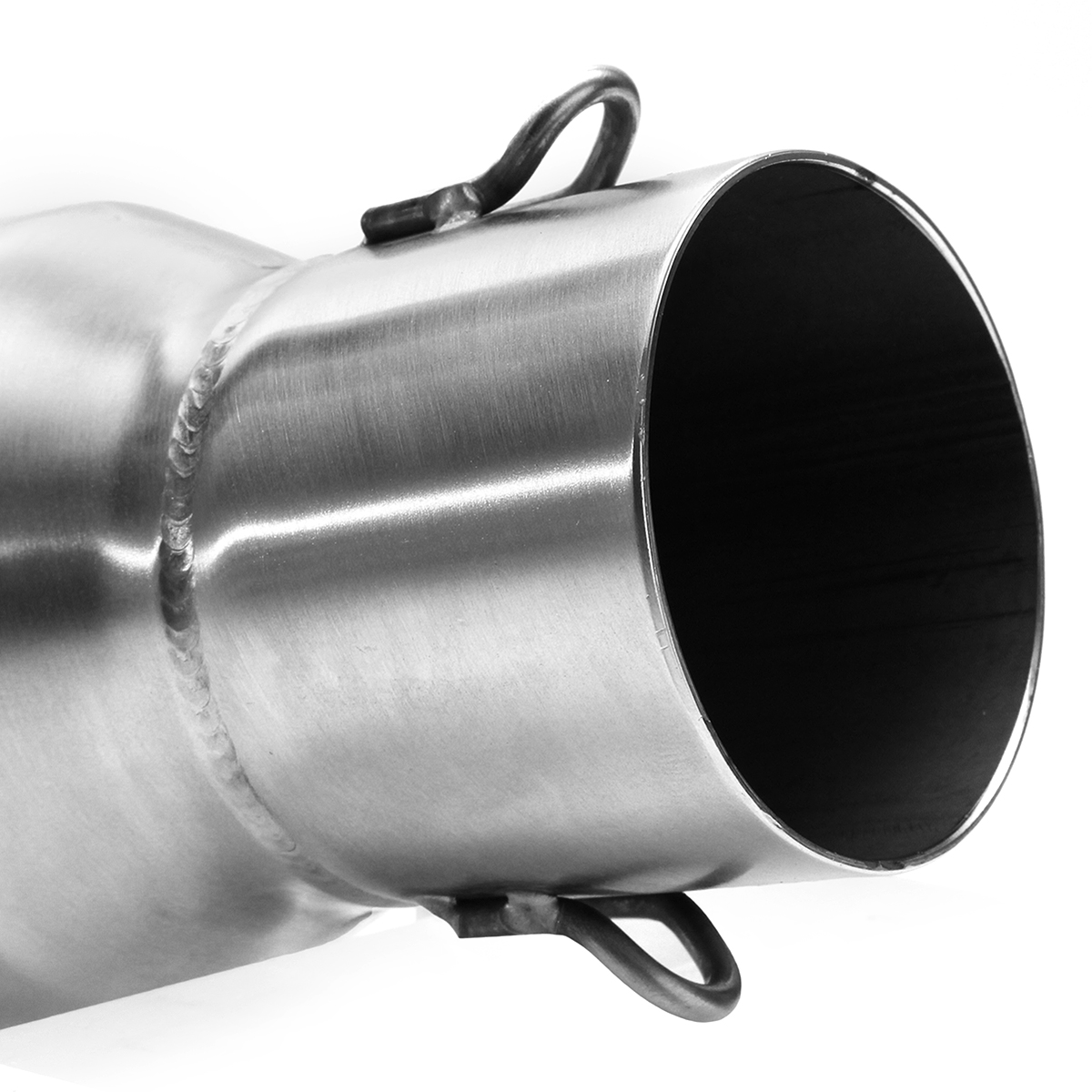 36mm-51mm Dolphin Shape Motorcycle Exhaust Muffler Pipe with Silencer Stainless Steel
