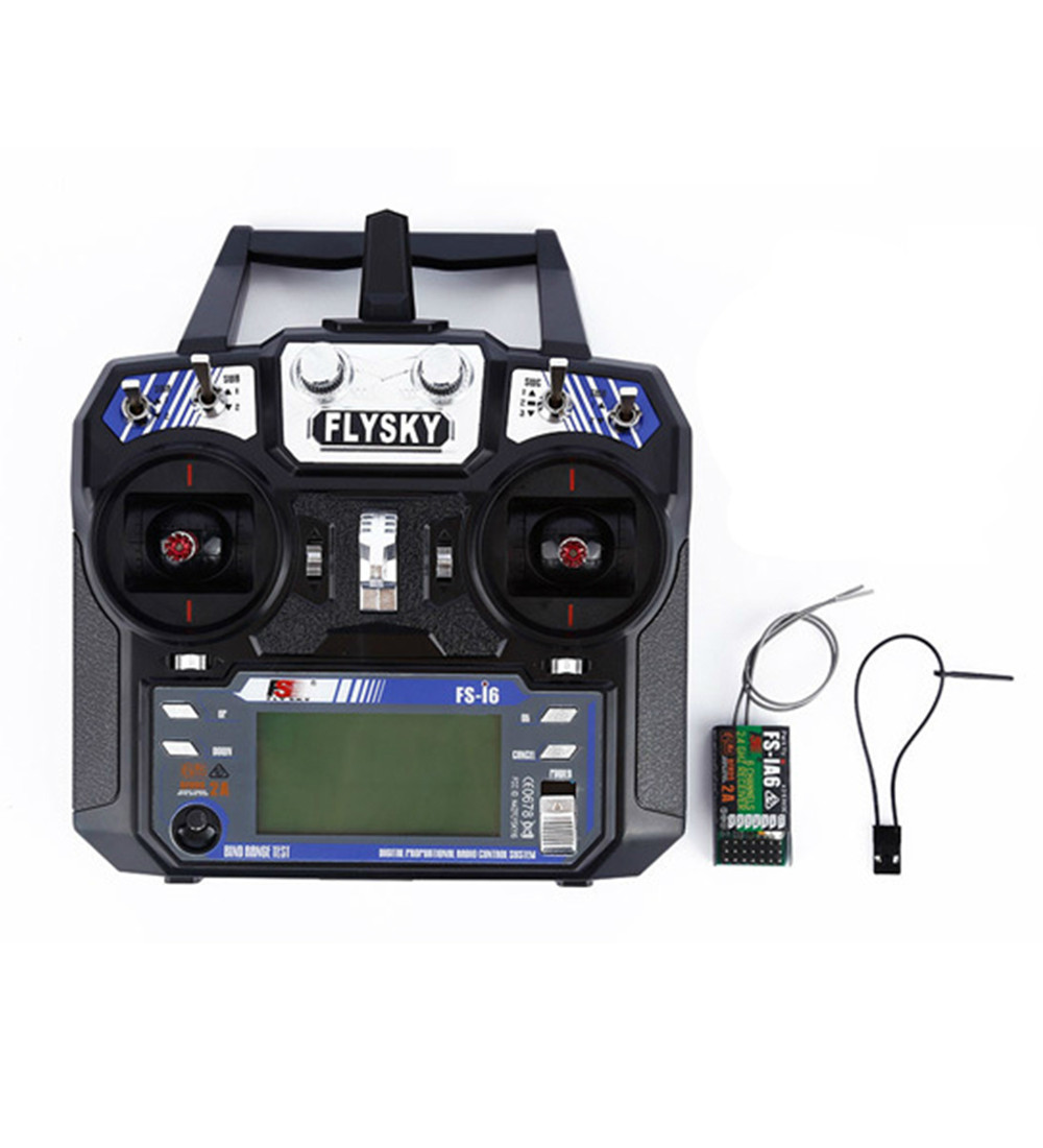 FlySky FS-i6 2.4G 6CH AFHDS RC Radio Transmitter With FS-iA6 Receiver for FPV RC Drone