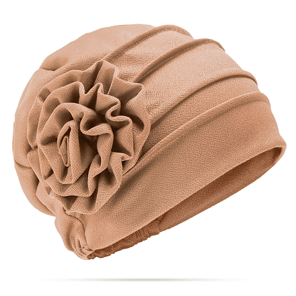Women Flower Cotton Warm Beanies Cap Muslim Casual Hat
