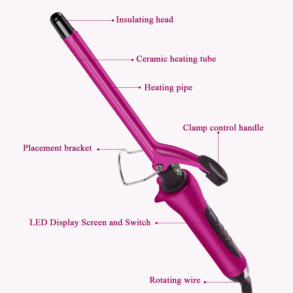 360° Rotating Electric Hair Salon Curler