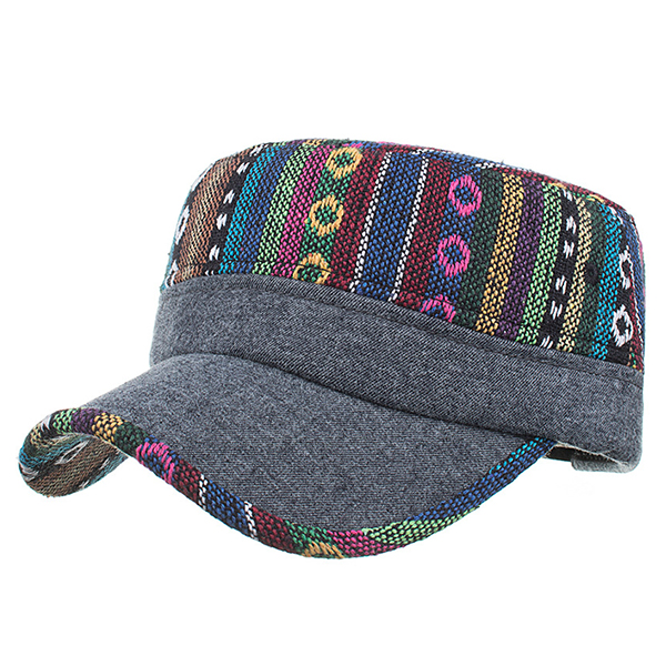 Mens Ethnic Baseball Caps Vogue Stripe Hats