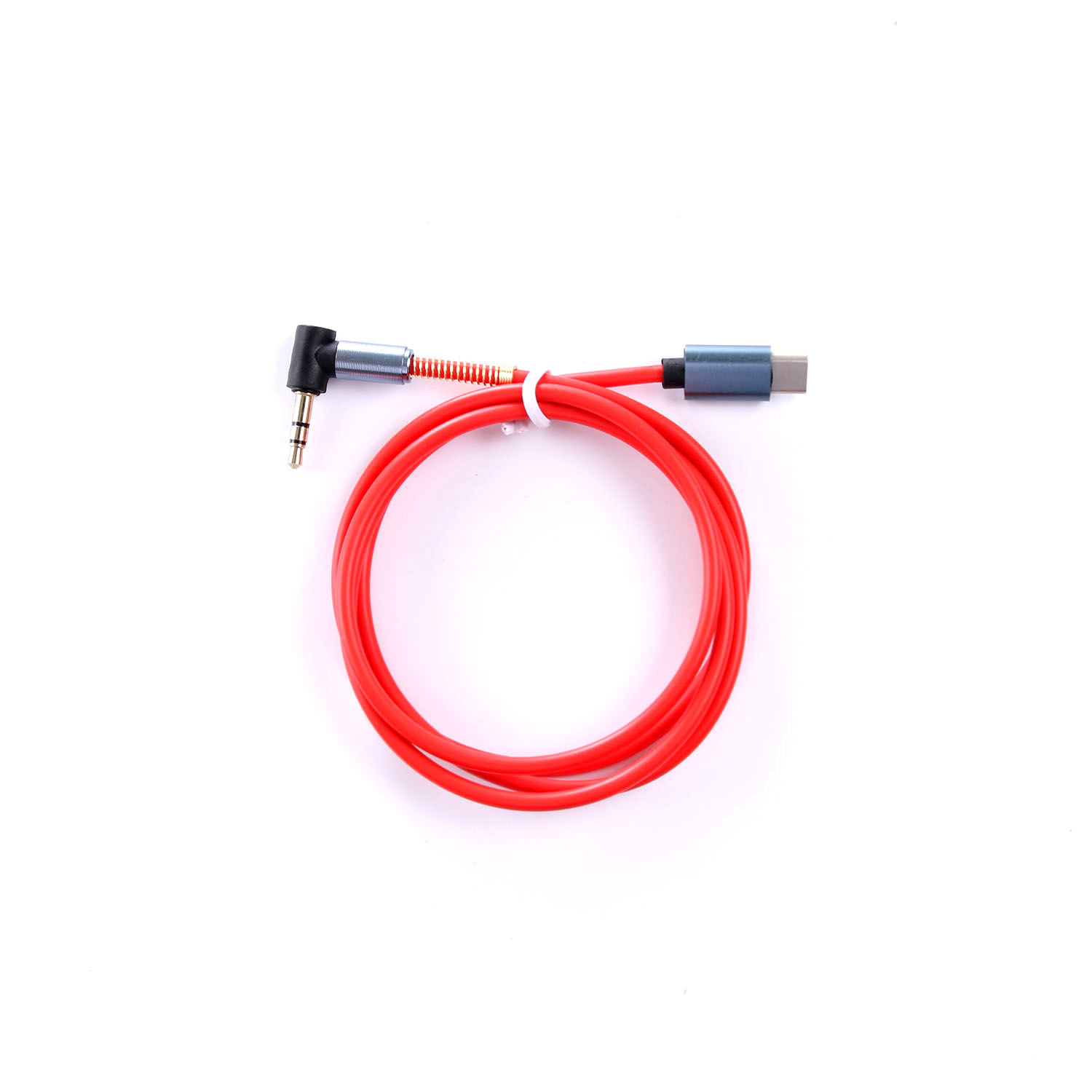 Bakeey Type C To 3.5mm Jack 90 Degree Right Angle Round Audio AUX Cable For Mobile Phone MP3 Tablet