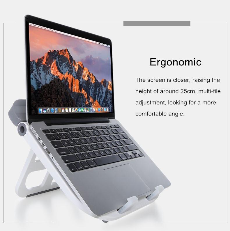 Cooskin Foldable Adjustable Ventilated Tablet Holder Laptop Bracket Desktop Book Stand Mount
