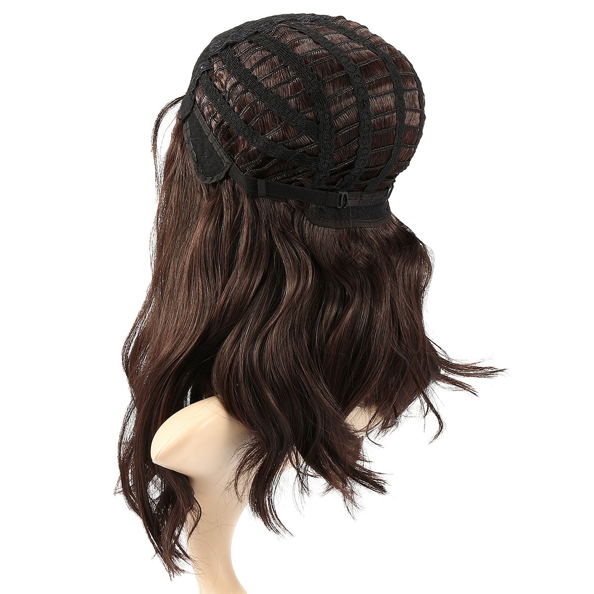 42cm Women Natural Black Curly Hair Ombre Wigs