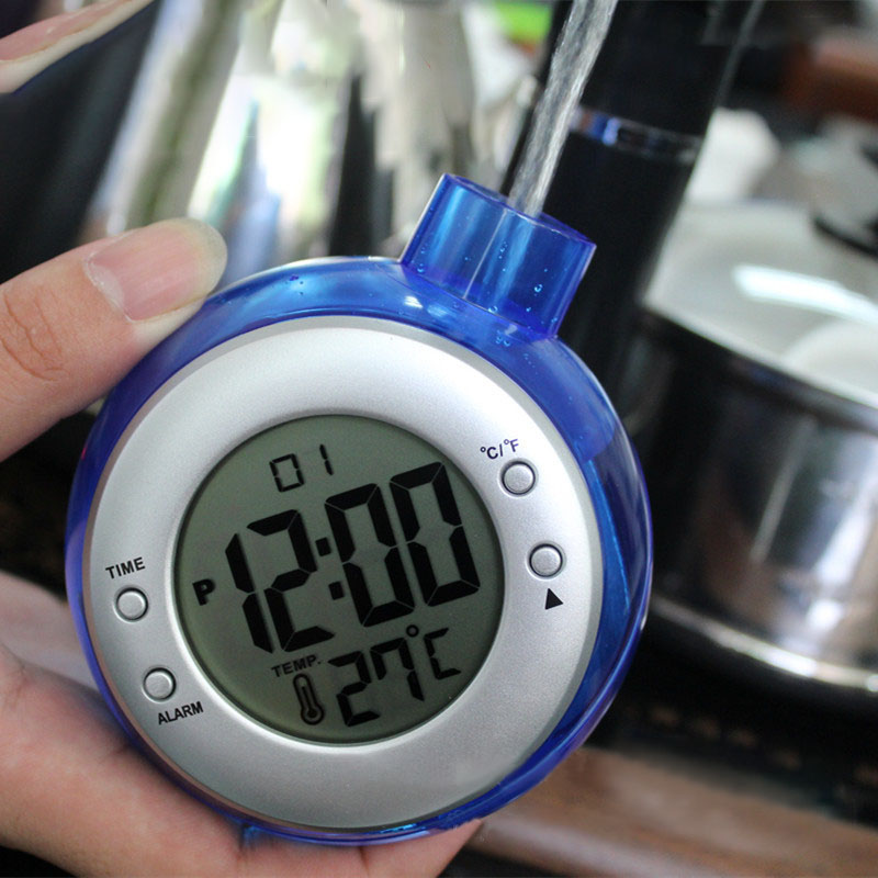 Loskii LT-103 Water Power Digital Alarm Clock Bottle Shape Home Confort Eco-Friendly Hydrodynamic Thermometers Weather Station