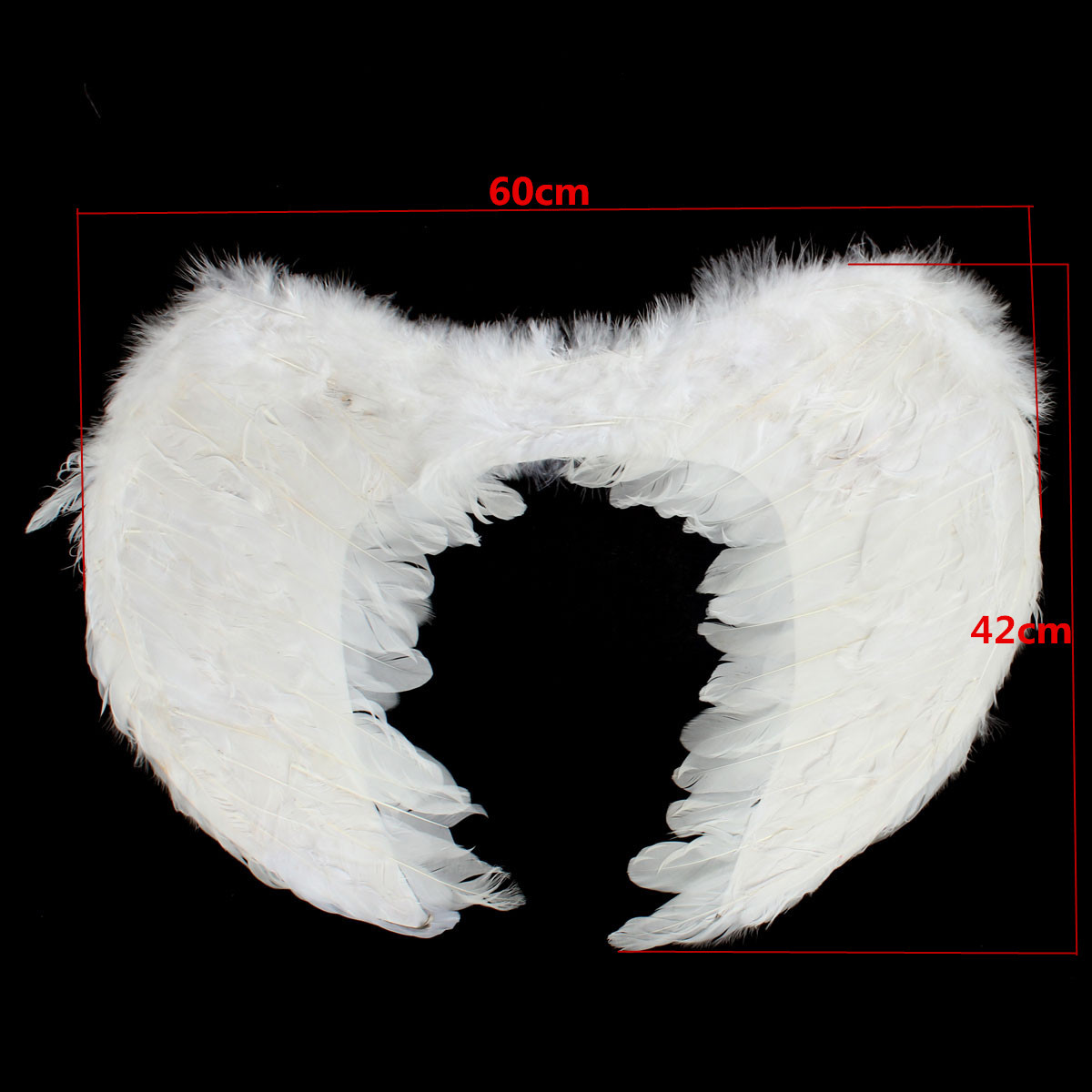 Angel Fairy Wings Fancy Dress Costume Feather Outfit Large Adult White