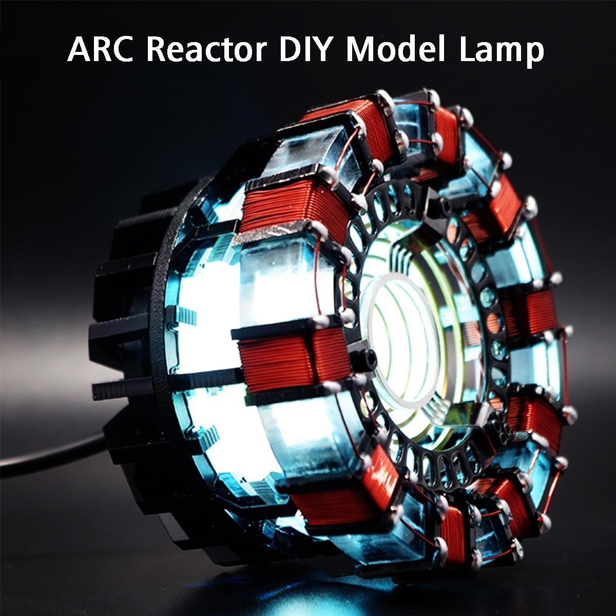 MK1 Acrylic Remote Ver. Tony DIY Arc Reactor Lamp Kit Remote Control Illuminant LED Flash Light Heart Set