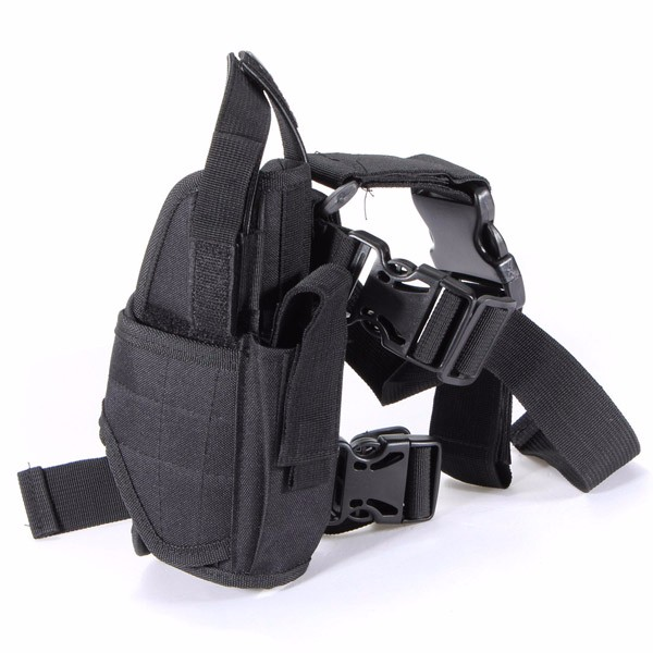 Waterproof Outdoor Hunting Military Tactical Puttee Thigh Leg Gun Holster Pouch