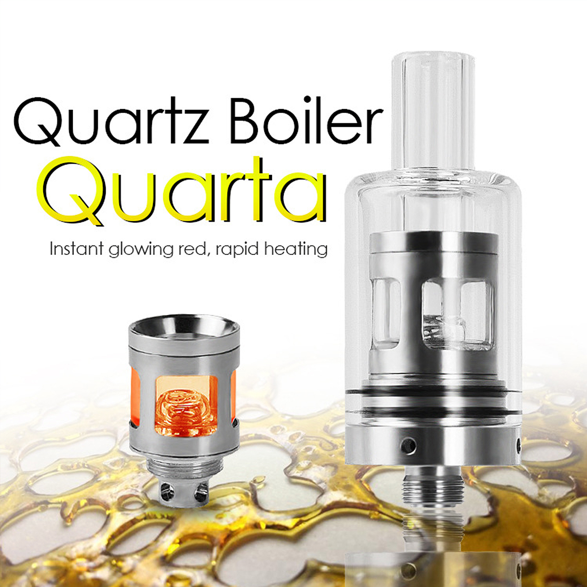 Longmada Tank Quarta 510 Threaded Atomizer Quartz Boiler Coil-Less Chamber Sprayer