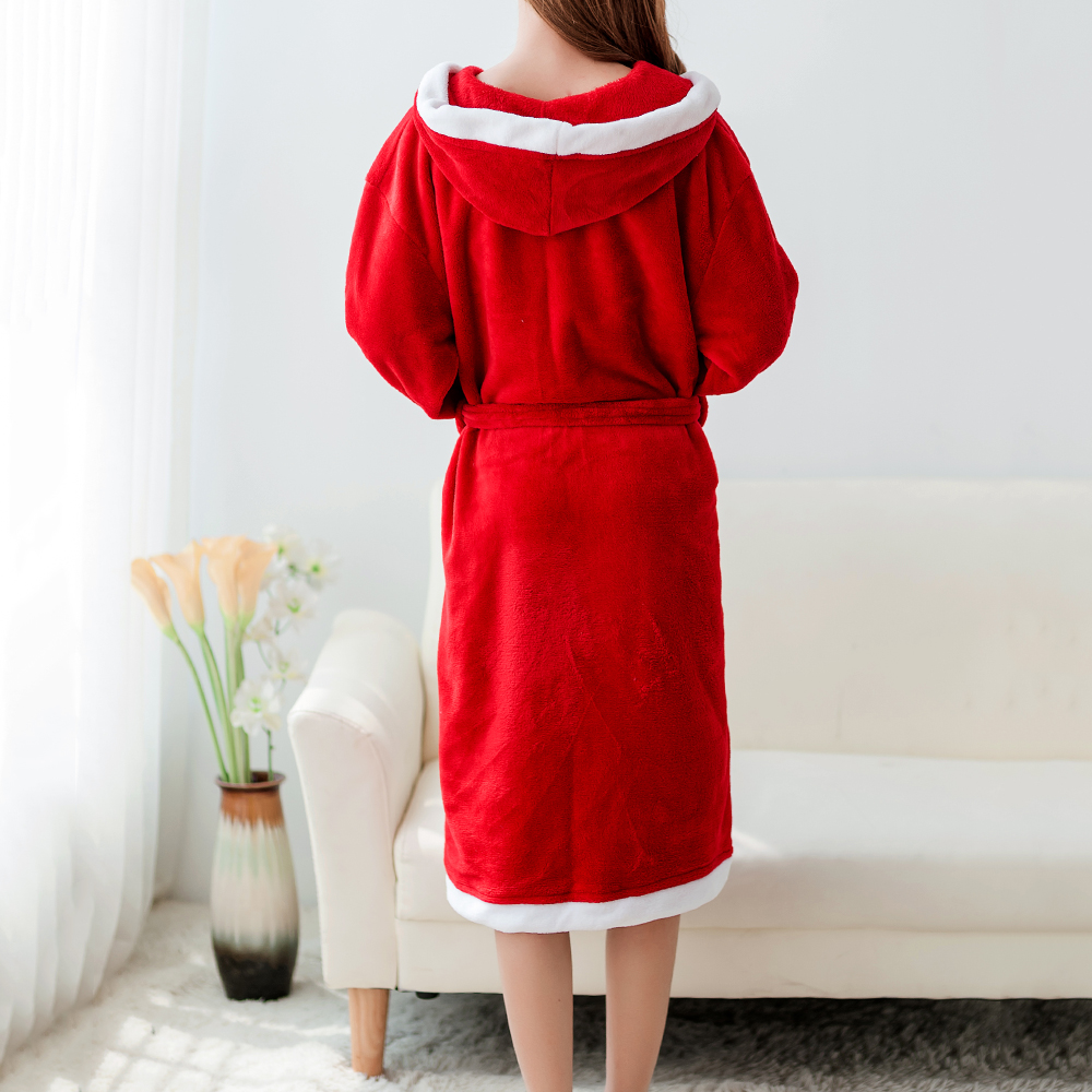 Banggood Coral Fleece Homewear With Hat Thick Robes Keep Warm Nightgown