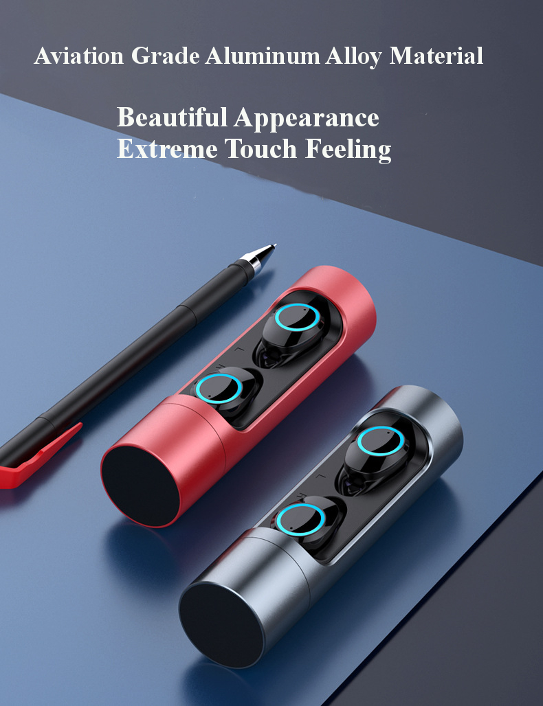 Touch Control True wireless bluetooth 5.0 Earphone Mini HiFi Stereo IPX6 Waterproof Headphone