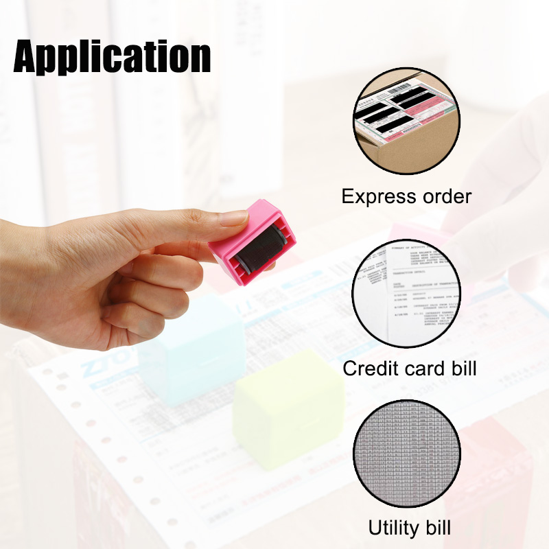 Confidential Seal Roller Stamp Messy Code Security Seal Hide ID Garbled Self-Inking