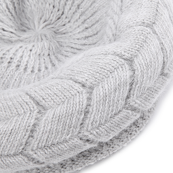 Women Ladies Beret Knitted Beanie Crochet Caps Braided Baggy All-match Stewardess Hat