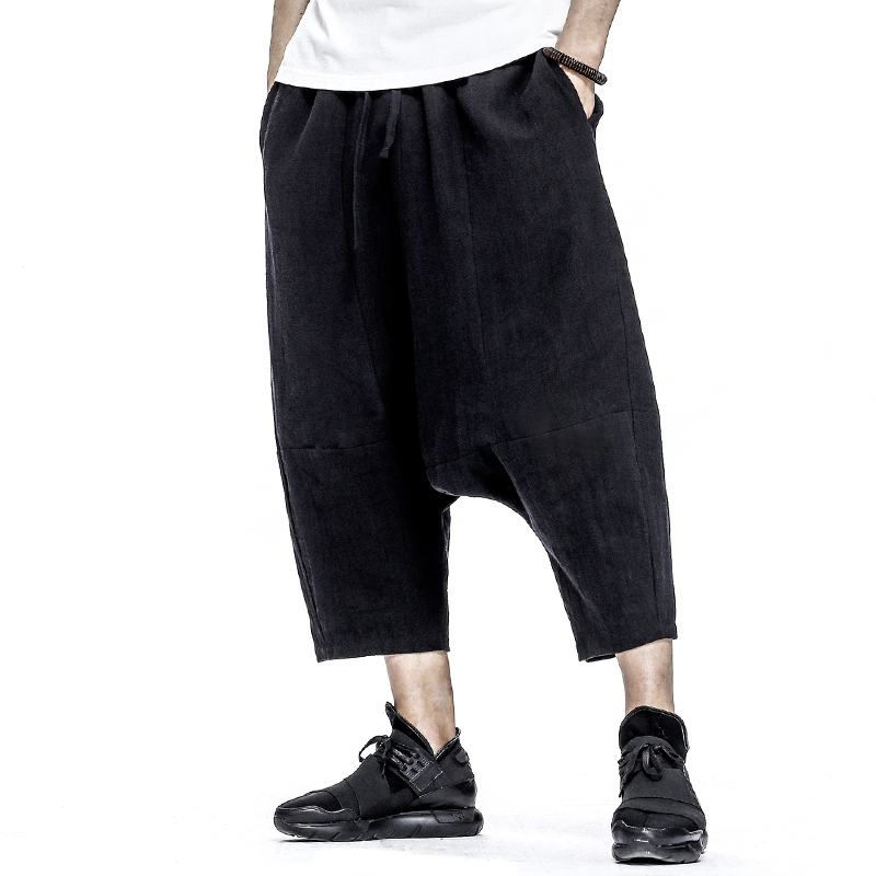 Men's Chinese Style Loose Ankle Length Harem Pants