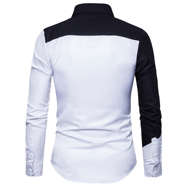 Chic Trendy Black White Splicing Stylish Designer Shirt for