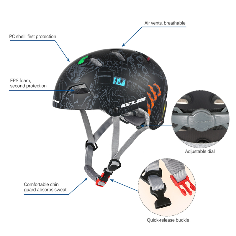 GUB V1 Climbing Helmet EPS+PC Cool Breathable Bicycle High Quality Solid Safety Helmet