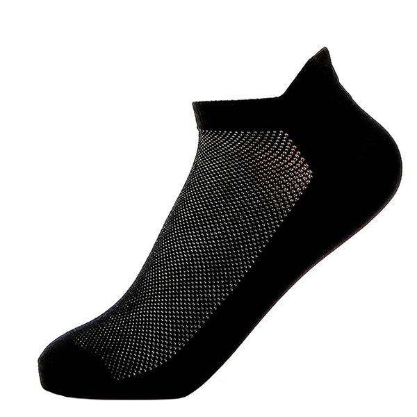 Outdoor Sports Running Mesh Breathable Wear-resistant Non Slip Men Nylon Solid Color Socks