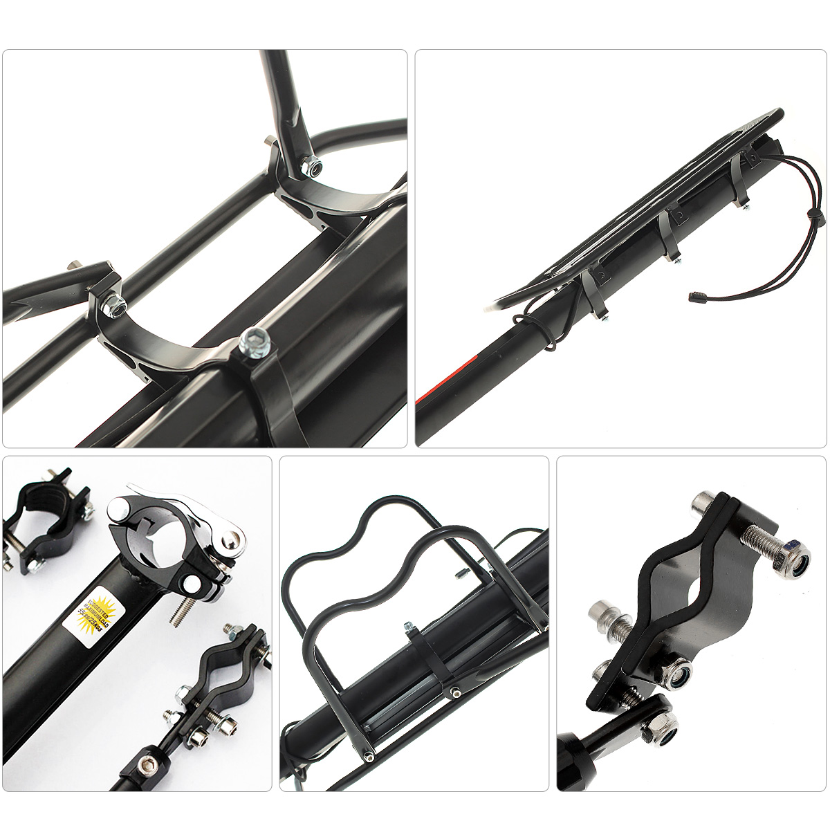 BIKIGHT Bike Cargo Racks Alloy Rear Rack Seat Carrier Full Quick Release Luggage Protect Pannier
