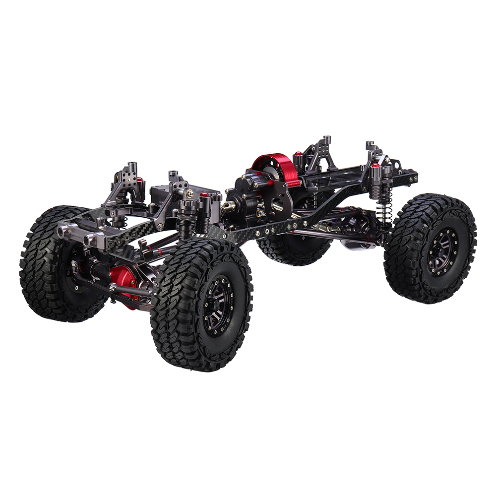 CNC Aluminum Metal Carbon Frame Body for 1/10 Crawler AXIAL SCX10 Rc Car Chassis 313mm Wheelbase