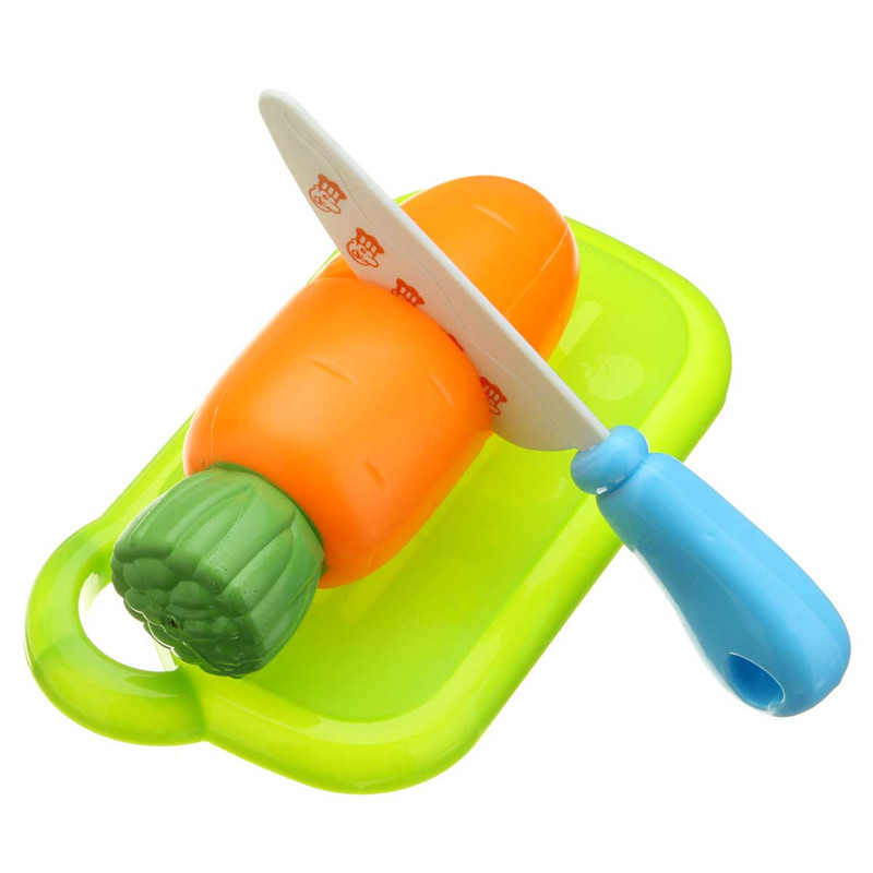 6PCS Fun Cut Vegetables Cutting Food Kitchen Play Set Kids Role Paly Toy