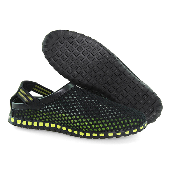 Unisex Beach Sandals Outdoor Mesh Breathable Flat Shoes