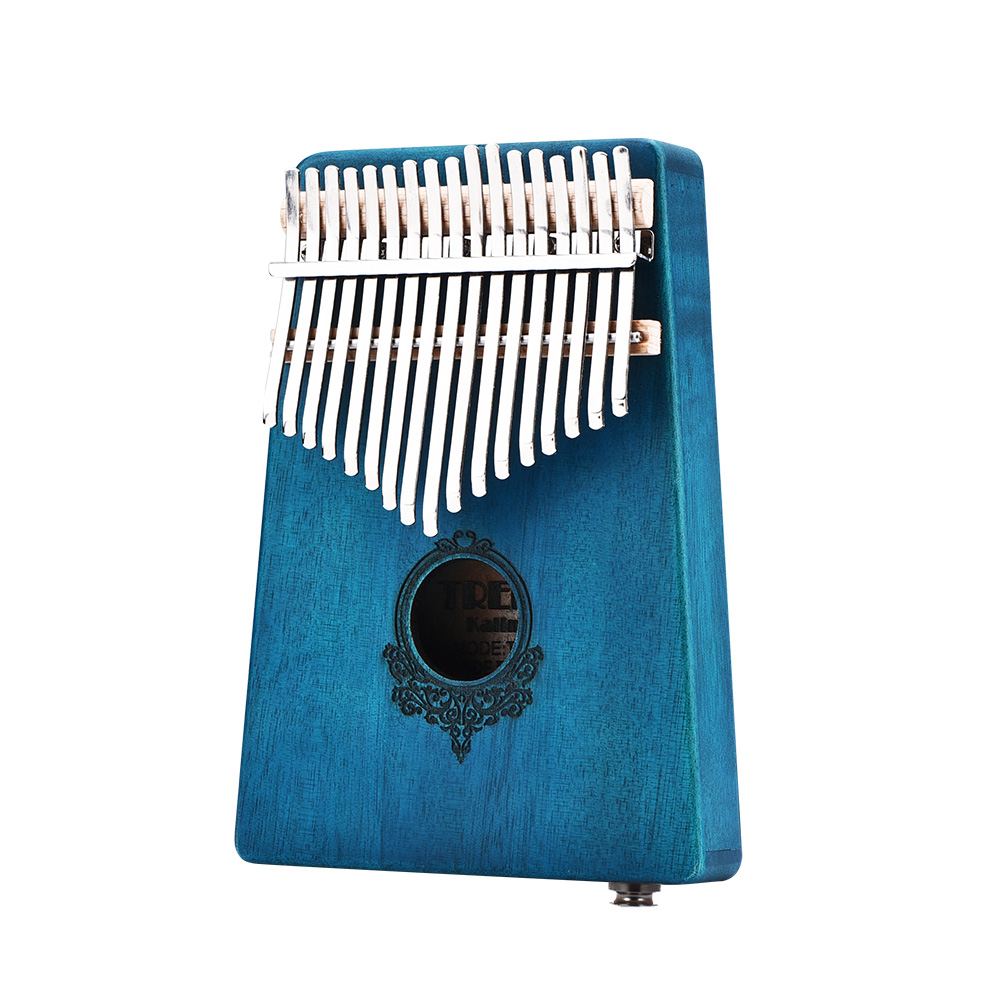 17 Keys African Mahogany Wood Finger Mbira Kalimba Keyboard Thumb Piano Finger Percussion Instrument (Eachine1) Lewisville Sell products