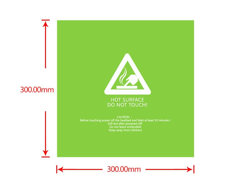 300*300*0.5mm Green Frosted Heated Bed Sticker Build Plate Tape With 3M Backing For 3D Printer