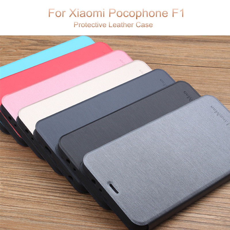 Bakeey™ Flip Shockproof Leather + TPU Full Body Protective Case for Xiaomi Pocophone F1