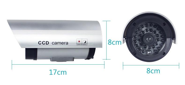 CA-11-02 Dummy Emulational Flash LED Fake CCTV Camera Bullet Waterproof Outdoor Security Camera