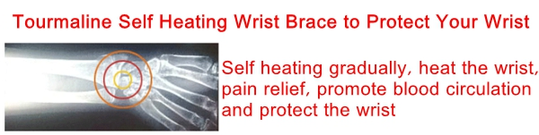 Tourmaline Self Heating Magnetic Wrist Support Brace Strap