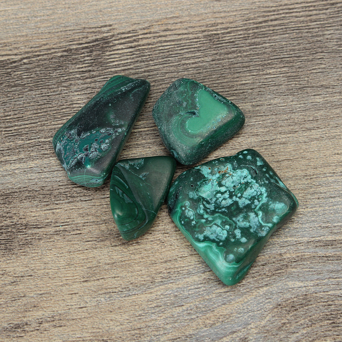 6pcs Green Malachite Healing Tumbled Stone DIY Jewelry Decoration Ornament