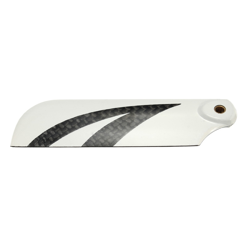 A Pair RJX Black White 70mm Tail Carbon Fiber Blade B Version for 500 470 480 Helicopter