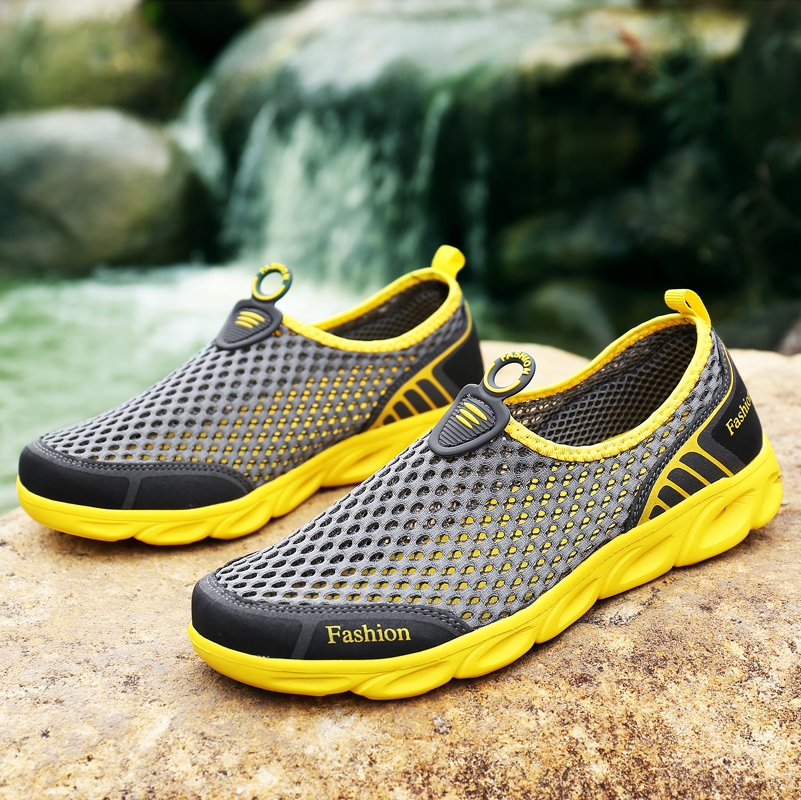 men sport shoes slip-on hiking water antiskid light hollow out ... b7e0c9a4120
