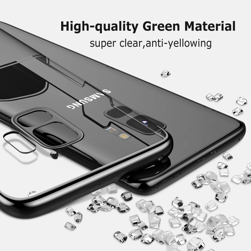 Xundd Two-colors HD Clear Plating Hard PC Protective Case for Samsung Galaxy S9/S9 Plus