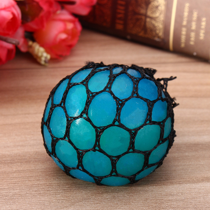 Squishy Mesh Ball Fun Toy Fiddle Fidget Stress Reliever Sensory Autism ADHD